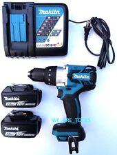Makita 18V XPH07 Brushless 1/2 Hammer Drill, 2) BL1830 Batteries,Charger 18 Volt
