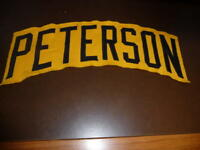 RICK PETERSON 1984 PITTSBURGH PIRATES COACH GAME WORN USED NAME PLATE OFF JERSEY