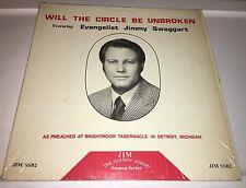 JIM SSB2 JIMMY SWAGGART...WILL THE CIRCLE BE UNBROKEN Sermon Lp 22S