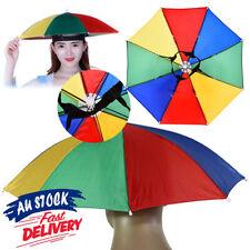 Cap Rain Camping Sun Portable Umbrella Hat Fishing New Multicolor