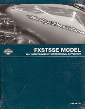 2007 HARLEY-DAVIDSON CVO FXSTSSE SOFTAIL SPRINGER SERVICE MANUAL SUPPLEMENT -NEW