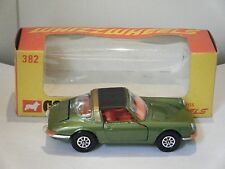 """Corgi No: 382 """"Porsche 911S Targa"""" - Green/Orange interior (Original 1970/Boxed)"""