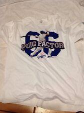 (XL) Yasiel PUIG FACTOR 66 White Tee Shirt Promo Los Angeles Dodgers T-shirt XL