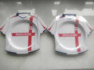 Ten England Football Shirt Melamine Plates Euros World Cup Camping