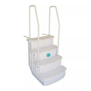 """Main Access 200601T 26"""" iStep Above Ground Pool Step Ladder Entry System, Taupe"""