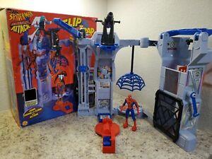 Toy Biz Spider-Man Sneak Attack Flip 'N Trap Playset MIB 100% Complete with Box