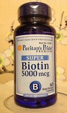 CAPSULES Super Biotin Vitamin 5000mcg 5000 Mcg Hair Skin Nails 60 Capsules