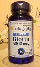 CAPSULES Super Biotin Vitamin 5000mcg 5000 Mcg Hair Skin Nails 60 Capsules