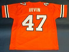 MICHAEL IRVIN CUSTOM UNIVERSITY OF MIAMI HURRICANES JERSEY THE U