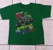 Green GRAVE DIGGER T-Shirt Size Large Monster Jam Truck Shirt Boys VTG