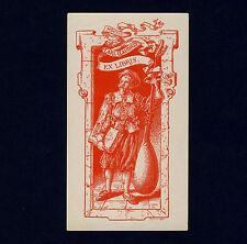 Exlibris Bookplate * CALMUS = R CALLMANDER Schweden * Laute Renaissance Lute