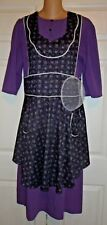 """Amish Mennonite Dress & Full Apron & Net Covering Handmade 38""""Bust/34""""Waist"""