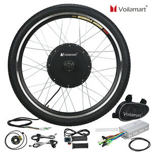"""48V1000W Front Electric Bicycle Motor Conversion Kit EBike Wheel Cycling Hub 26"""""""