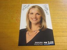 Shauna Parsons Newscaster Autographed/Signed 4X6 Photograph Fox 12 News Oregon