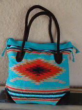 Monterey Tote Bag OPMONT-G Handwoven Southwestern Southwest  Bag with closure