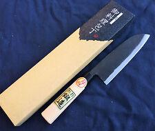 Japanese Super Blue Steel Double beveled Santoku Knife 165mm by Tomita