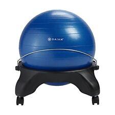 Gaiam Backless Balance Ball Chair - 52cm Stability Ball Home & Office Desk Chair