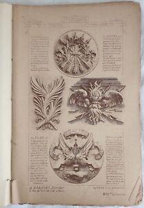 ARTE MATERIAUX DOCUMENTS D'ARCHITECTURE DECORI ARCHITETTURA BOLOGNA PARIGI 1800