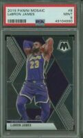 2019-20 Panini Mosaic Prizm #8 LeBron James Los Angeles Lakers PSA 9 MINT