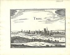 Antique map, Troye / Troyes