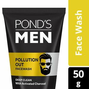 2 x Ponds Men Pollution Out Deep Clean Face Wash 50g With Activated Charcoal