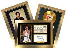 Freddie Mercury/Queen *RARE* Signature/Autographed Photograph Deal GOLD FRAMES