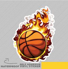 Flame Basketball Fire Game Team Bal Vinyl Sticker Decal Window Car Van Bike 2138