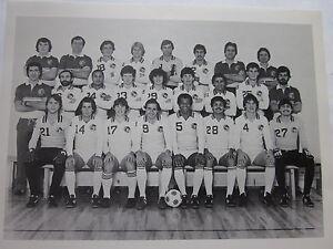 1981-82 New York Cosmos Indoor Soccer Team Photo Chinaglia Carlos Alberto SGA