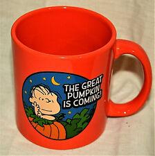 Linus Peanuts Halloween Great Pumpkin Patch Ceramic Lg Coffee Tea Mug Cup New