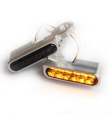 """""""IOM"""" LED Blinker Lenkerarmaturen Harley Davidson Softail Heritage -2013 Silber"""