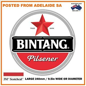 BINTANG BEER NEW Large Decal Stickers 240 MM