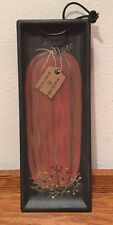 New Primitive Pumpkin Trick Or Treat Decorative Tray By Heart Side Collection
