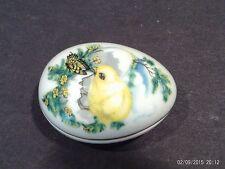 Franklin Porcelain Easter 1982 Collector Egg / Trinket Box