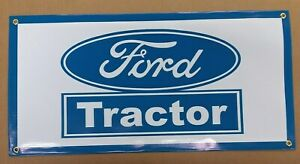 """FORD TRACTOR  BLUE   BANNER- 24"""" X 12"""""""