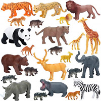 Jumbo Safari Animals Figures, Realistic Large Wild Zoo Animals, Jungle Animals
