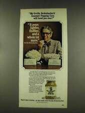 1977 Orville Redenbacher Gourmet Popping Corn Ad - Bowl Over