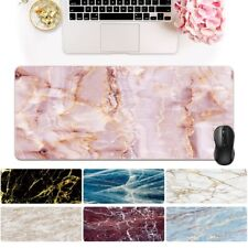 More details for marble large leather desk keyboard gaming mouse mat pad laptop computer