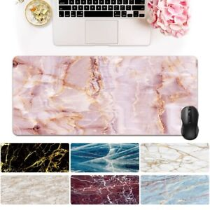 Marble Large Leather Desk Keyboard Gaming Mouse Mat Pad Laptop Computer