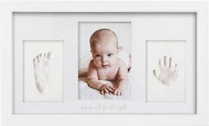 Baby Handprint & Footprint Keepsake Kit - Baby Prints Photo Frame for Newborn