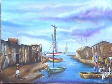 16 x 12 Painting by THE  FAMOUS ARTIST  SANDY CORN -HAITI-HAITIAN