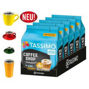 TASSIMO Kapseln Typ Iced Caramel Latte Coffee Shop Select 40 Getränke+ Tassenset