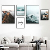 Ocean Waves Canvas Poster Seascape Wall Art Print Scandinavian Home Decoration