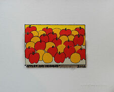 James Rizzi Original Serigraph Hand Signed Numbered Apples And Oranges 3D 2002