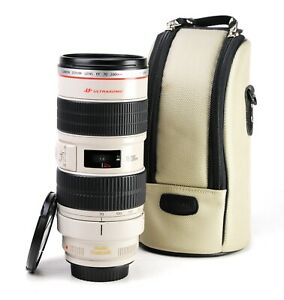 Canon EF 70-200mm F2.8 L IS USM Lens + Front & Rear Lens Caps + Collar + Case VG