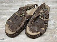 Dr Doc Martens Arc Fisherman Sandals Brown Leather Shoes 8092 Mens sz 12