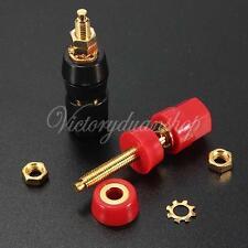 2X Audio Speaker Amplifier Terminal Binding Post for 4mm Socket Banana Plug Jack
