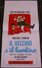 LOCANDINA, IL VECCHIO E IL BAMBINO, MICHEL SIMON, CAREL, BERRI, COMMEDIA,DE SETA