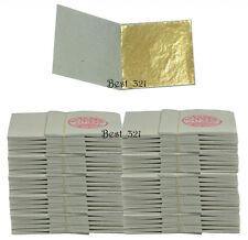 1000 Gold Leaves 45 mm x 45 mm Veritable Sheets for Design & Guilding Art