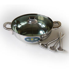 STAINLESS STEEL CHINESE HOT POT - 28CM