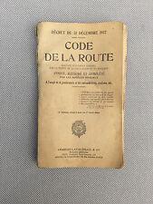 Ancien manuel code de la route 1924 Lavauzelle collection old french book